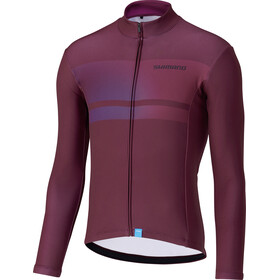 Shimano Team Maillot À Manches Longues Homme, wine